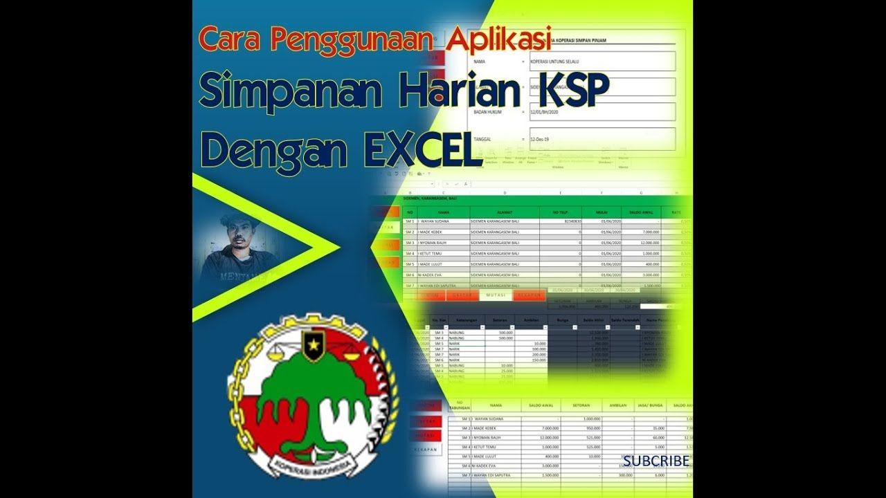 Cara Membuat Aplikasi Tabungan Dengan Excel I Penggunaan Aplikasi Microsoft Excel Aplikasi Tabungan