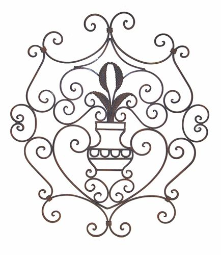 remarkable ornate scroll design wrought iron wall decor panel 434 x 500 152 kb - Wrought Iron Wall Designs
