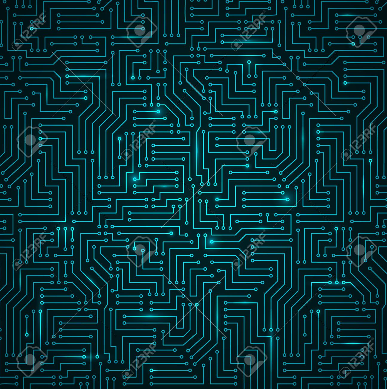 Tech Texture Seamless Google Search Pattern Pinterest Circuit Board Graphic Greeting Card For Sale By Setsiri Design Textures Patterns Print Technology