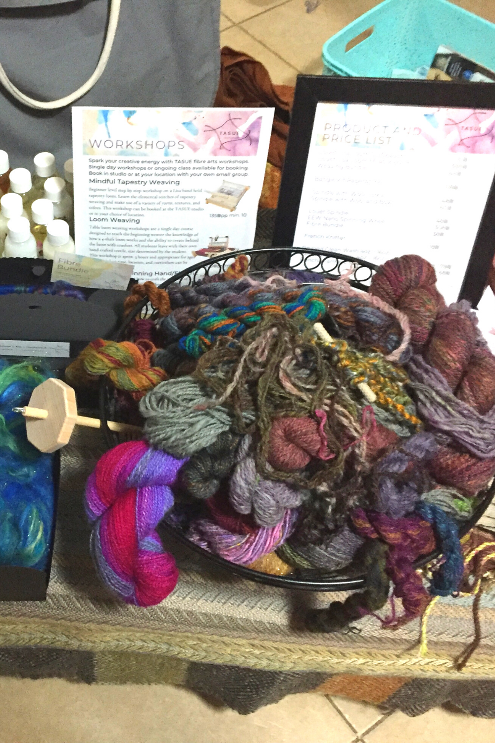 High quality hand spun yarn. Earthy yet vibrant colors, all made by hand in my studio. #Yarn #FiberArt #HandSpunYarn