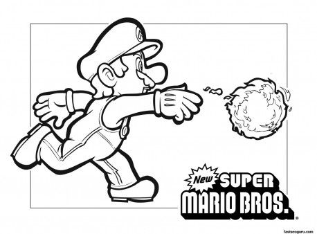Mario Brothers Coloring Pages - Cinebrique