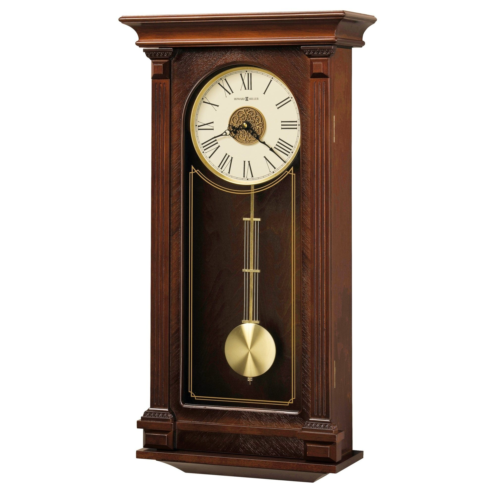 Howard Miller Sinclair Grandfather Clock Style Chiming Wall Clock With Pendulum Charming Vintage Old World Classic Design Chiming Wall Clocks Clock Grandfather Clock