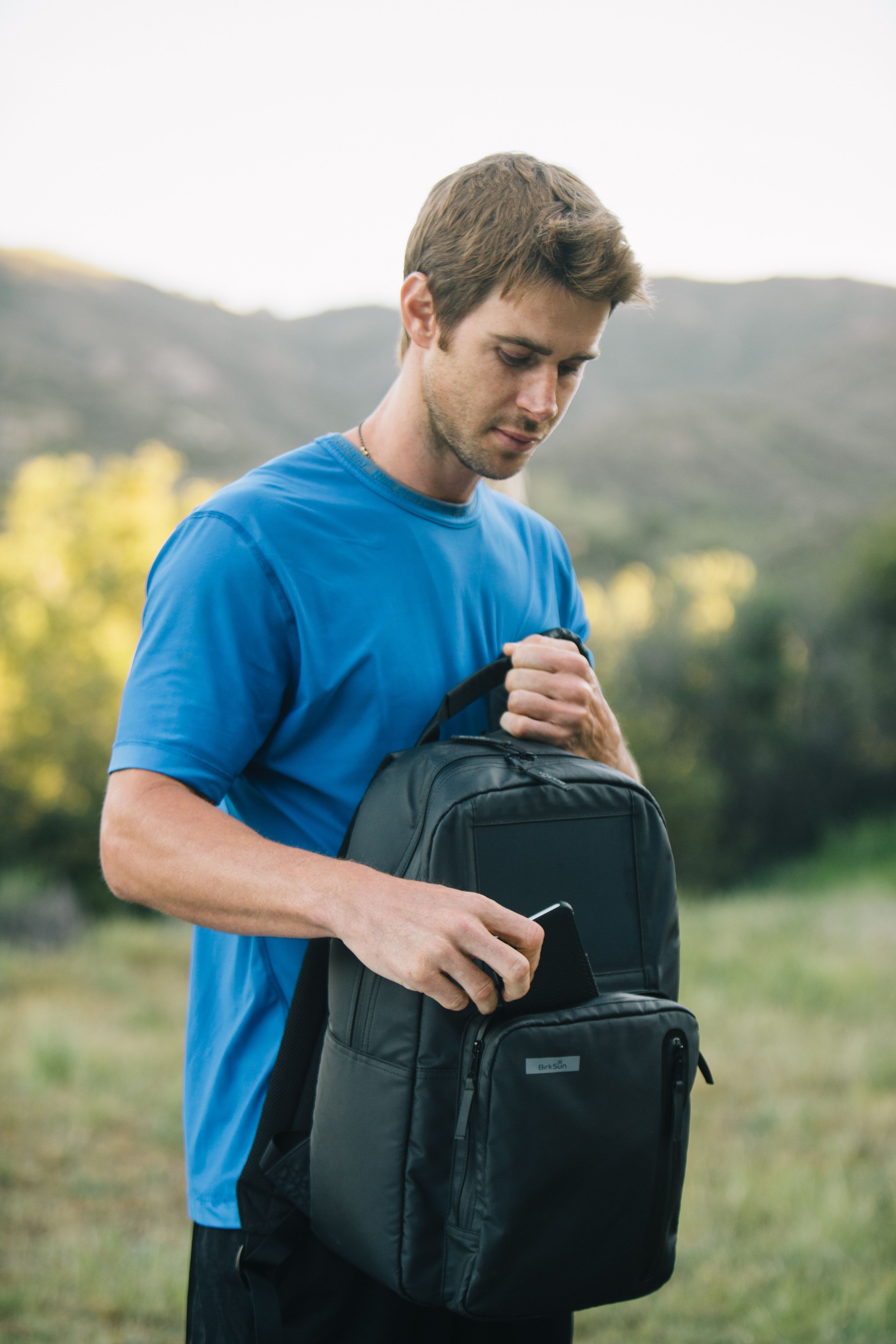 The all-new Boost Sport Collection from BirkSun. Charge your backpack from  the sun AND wall outlet! Order yours now at birksun.com! aab02d0ca90aa