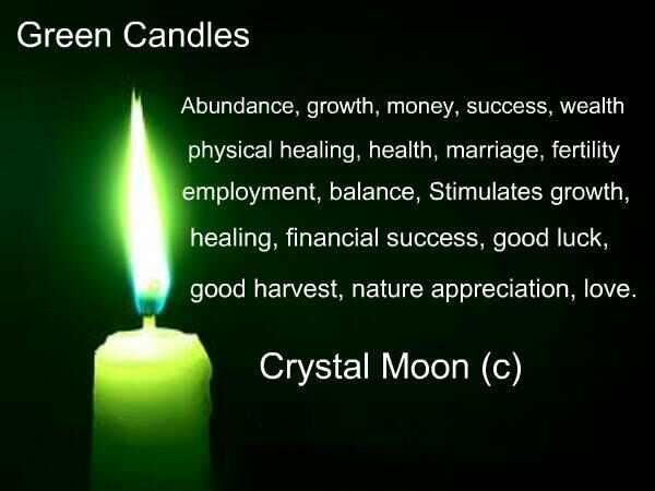 green candles | Colors Galore | Candle quotes, Candle magic