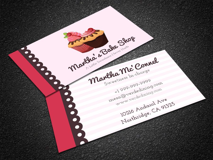 Free Sweets Bakery Business Card | Bakery business cards, Bakery ...