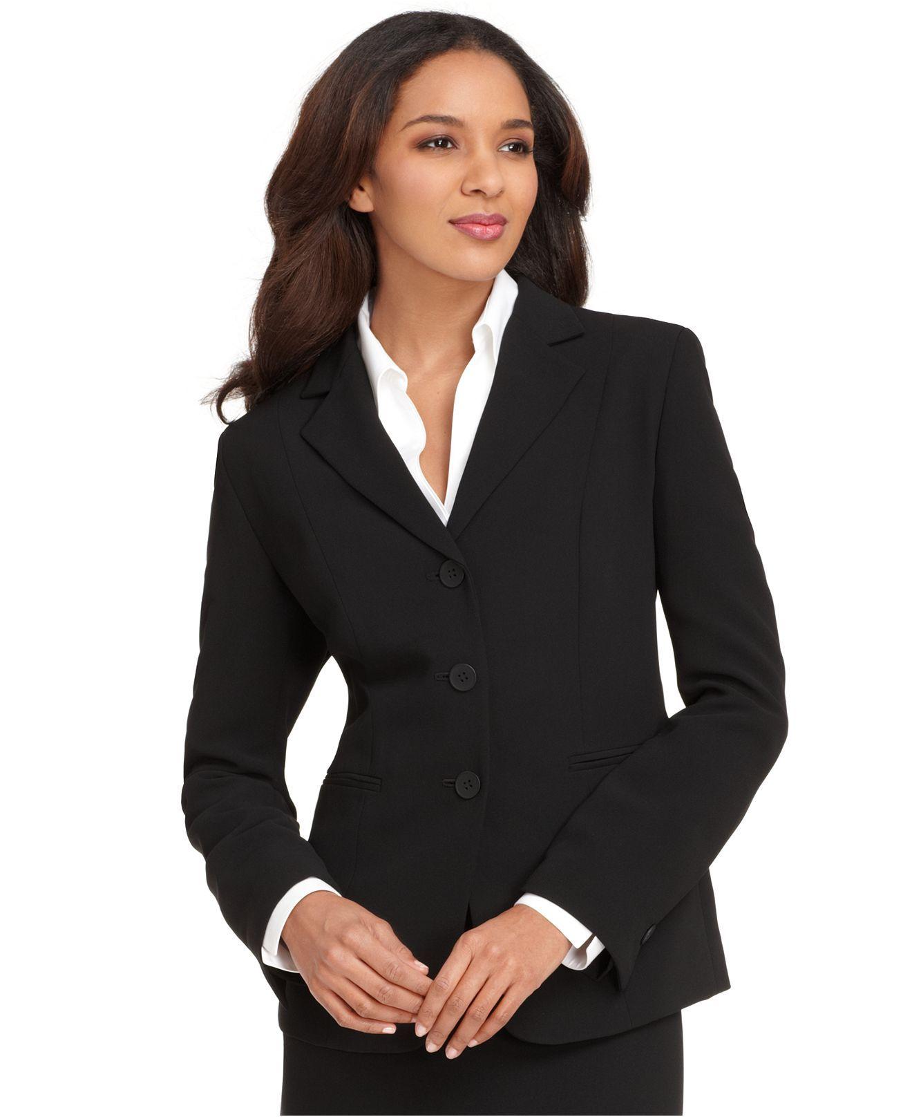 Simple Black Suit  Ladies Attire  Interview Suits -7897