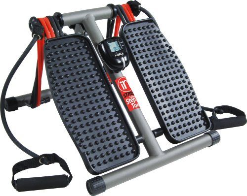The Stamina InStride Foldaway Step 'n Tone is a great way to tone your legs, hips, and thighs while burning extra calories and improving circulation. Use in your home or even at work for a leg-toning cardiovascular workout. The InStride Foldaway Step 'n Tone fits under a desk, in a closet, under the bed, or in a corner. It is easy to move from room to room and place to place.