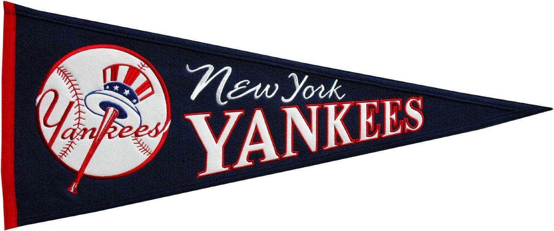 New York Yankees Mlb Baseball Cooperstown Pennant New York Yankees Cooperstown New York Yankees