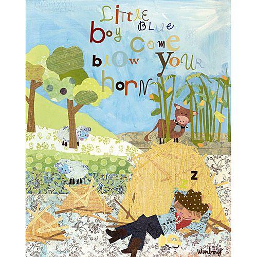 Little Boy Blue Canvas Reproduction from PoshTots | BABY STUFF ...