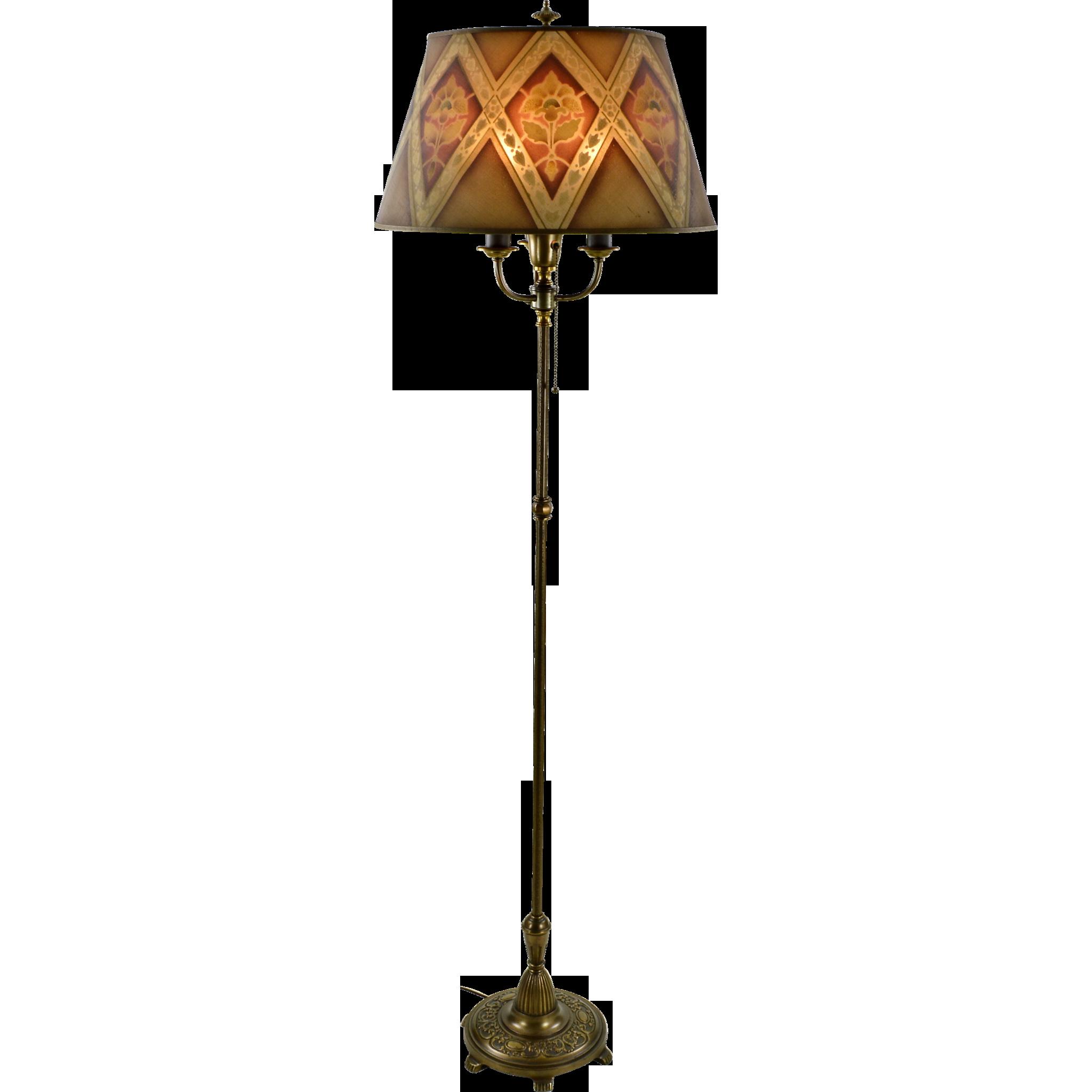 Vintage Rembrandt Floor Lamp Mesh Shade Lamp Floor Lamp