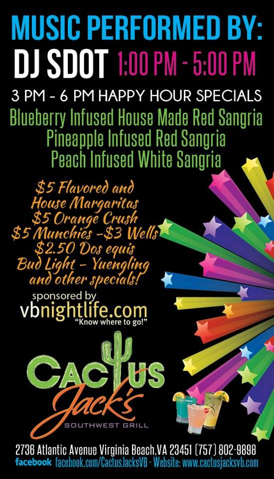 Sunday Funday With Vbnightlife At Cactus Jacks Virginia Beach Day
