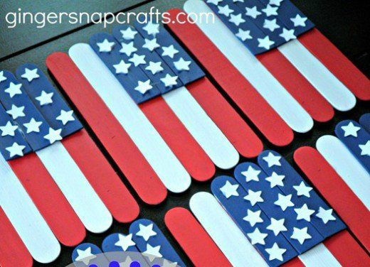 47 Patriotic Craft Ideas 4th Of July And Memorial Day Popcicle