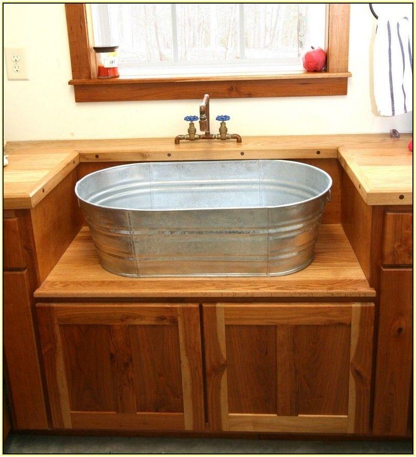 galvanized bucket sink best home