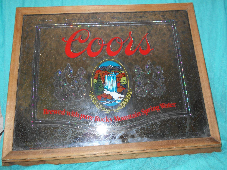 Coors Light Vintage Lighted Mirror, Vintage Barware Coors