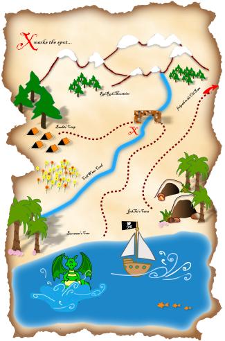 Treasure Map Illustrated Google Search Treasure Maps Fish Chart Torn Paper