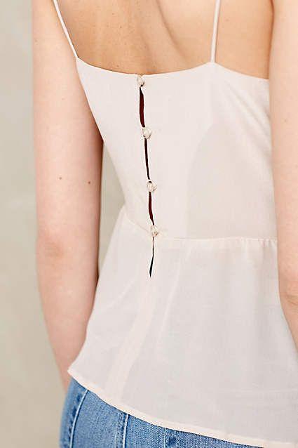 Silk Peplum Camisole Anthropologie Com Glamour