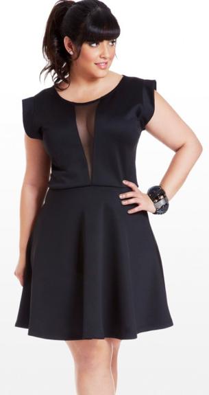 plus size black dresses