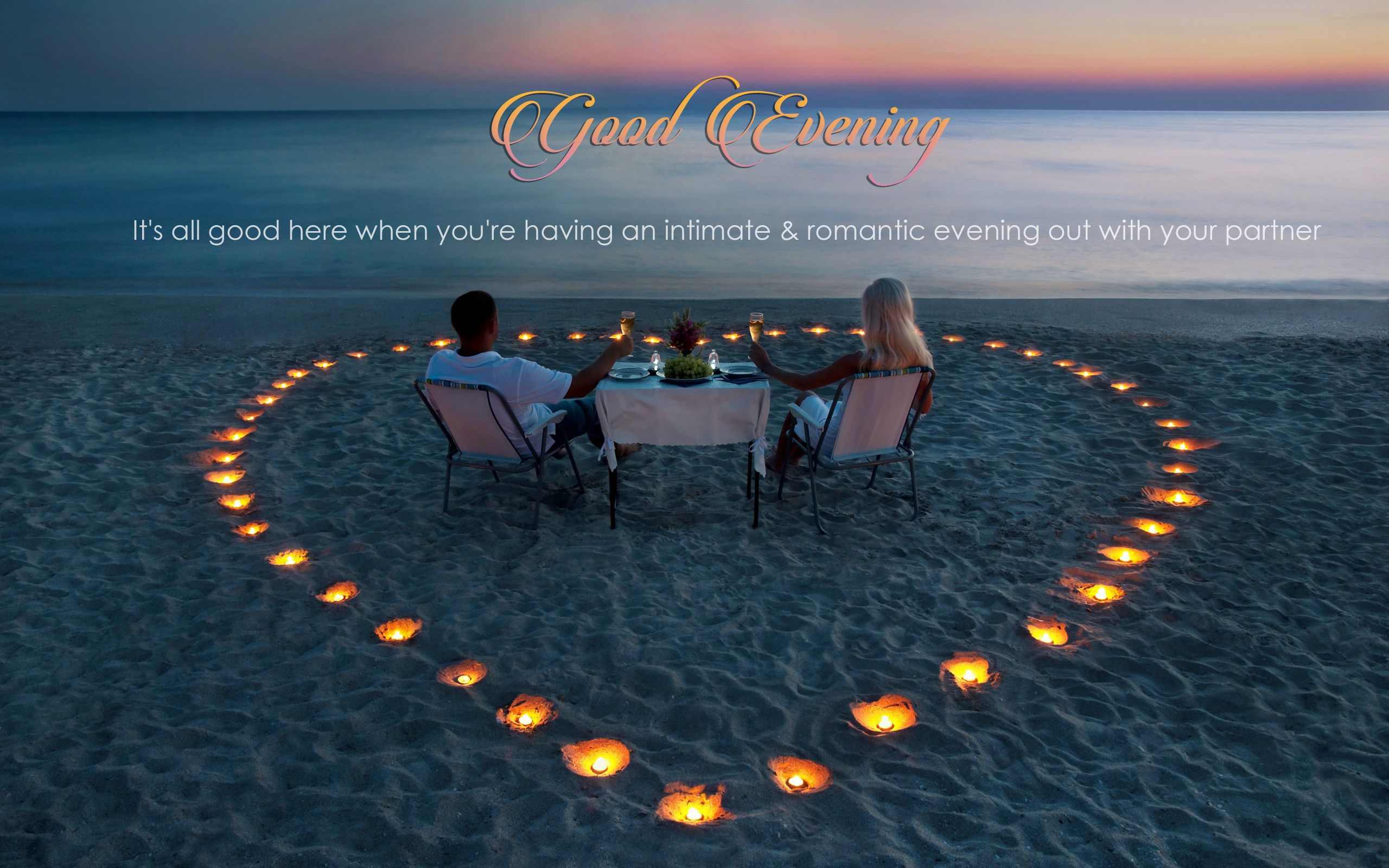 Good Evening Romantic HD Wallpaper Good Evening, HD, Wallpapers, Greetings,  Quotes,
