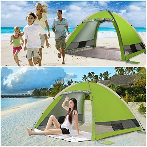 Large Beach Tent Pop Up Spacious Comfortable Sun 4 Person Anti UV Family NEW  #BeachTent #Beach