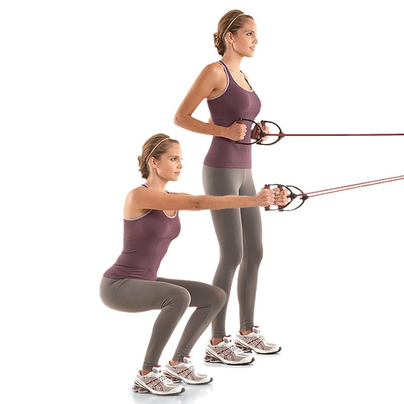 Squat-and-row With Resistance Band