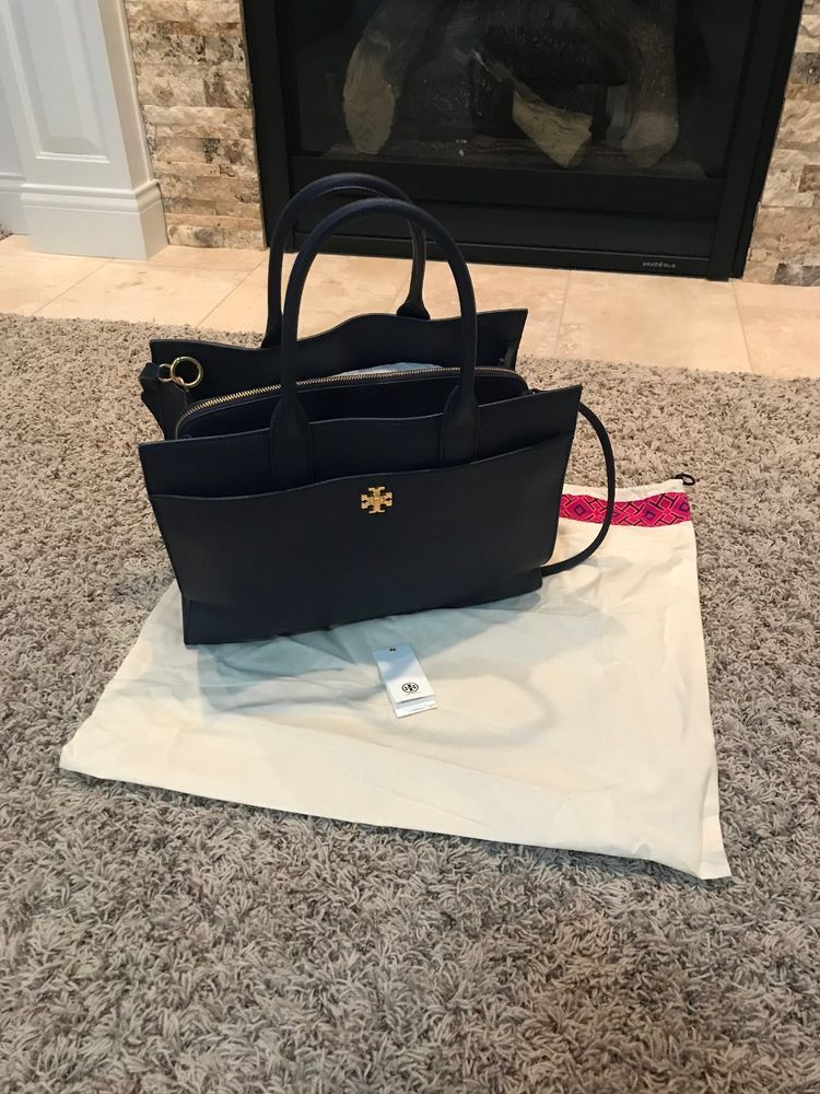 6af780e4dff TORY BURCH KIRA LEATHER LARGE TOTE ROYAL NAVY SLIGHTLY USED ...