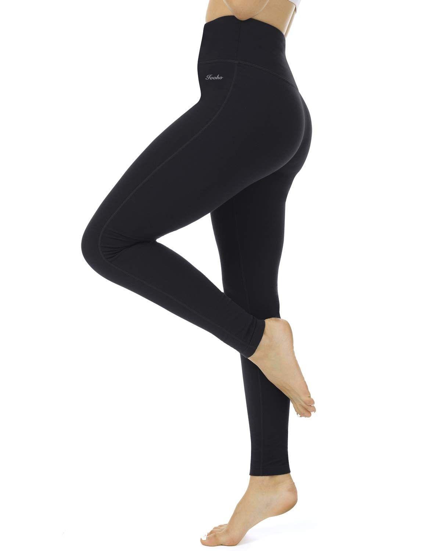 Womens High Waist Yoga Leggings Tummy Control Workout Yoga Pants - Black - CA18Q7OEOIR - Sports & Fi...
