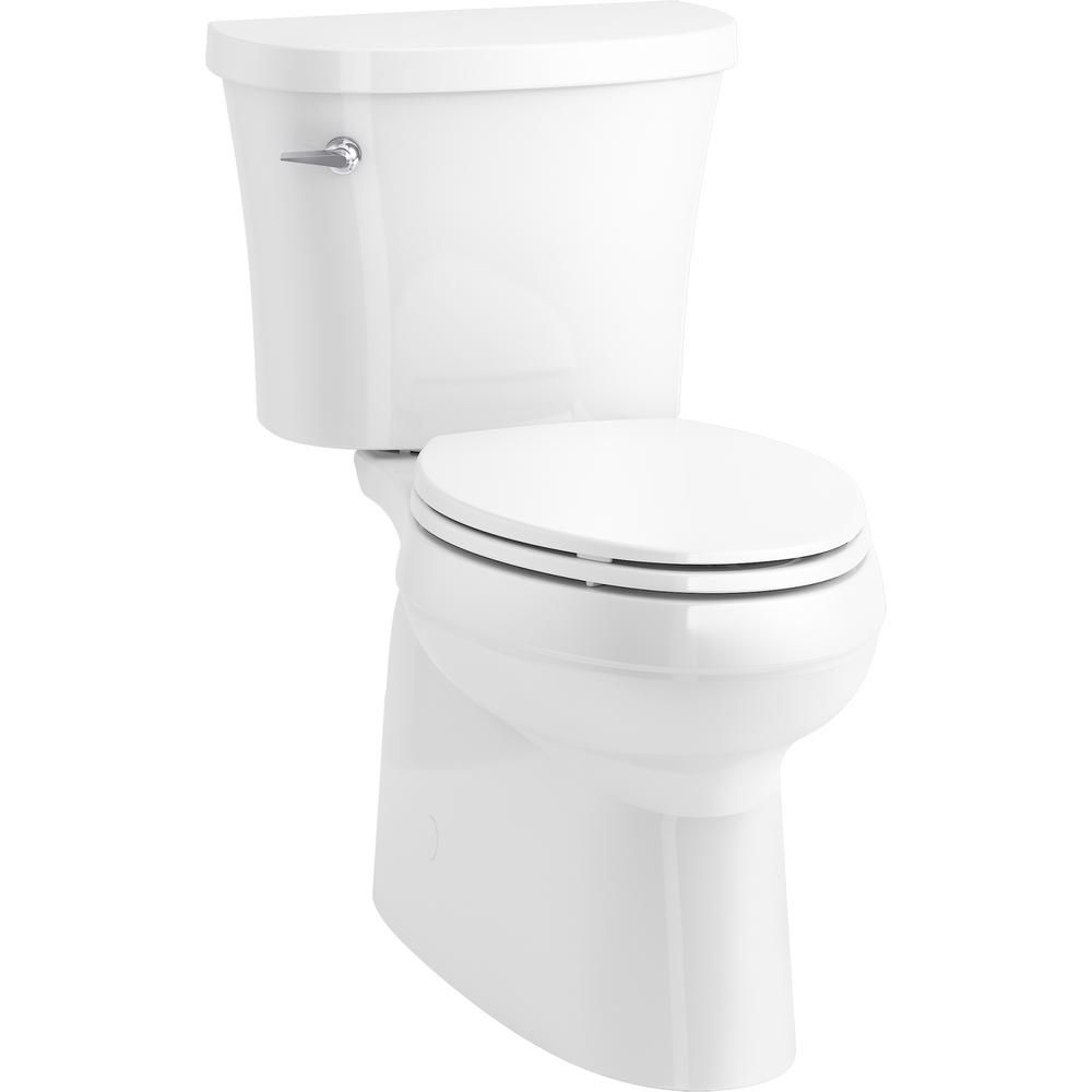 Kohler Gleam 2 Piece Chair Height Elongated Skirted 1 28 Gpf Single Flush Toilet In White With Slow Close Seat K 31674 0 The Home Depot In 2020 Flush Toilet Toilet Water Sense