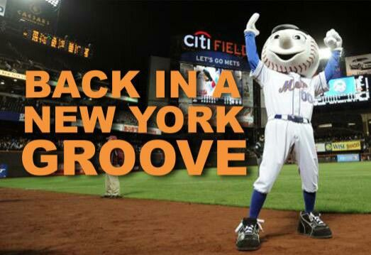 The Mets win! Back in a New York Groove! They always play better at home!