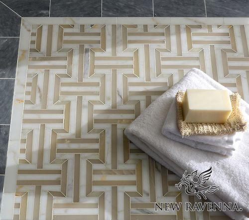 Gaston Mosaic Floor - Illusions™ Collection   New Ravenna Mosaics