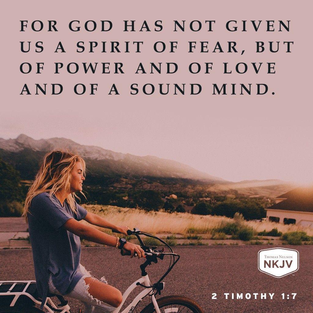 NKJV Verse of the Day: 2 Timothy 1:7 GOD #faith #family