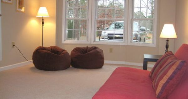 One Car Garage Turned Family Room We Hope To Do This Someday