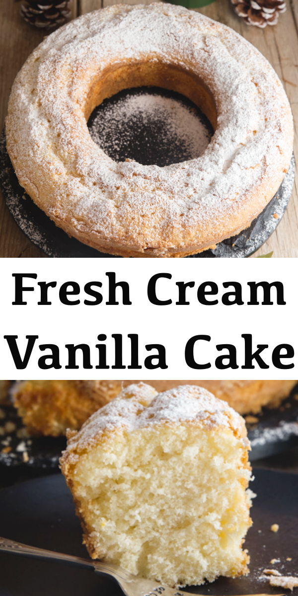 This Italian Vanilla Cake is quite an easy cake to make Made with fresh cream and no butter but with the added touch of citrus Soft moist and delicious