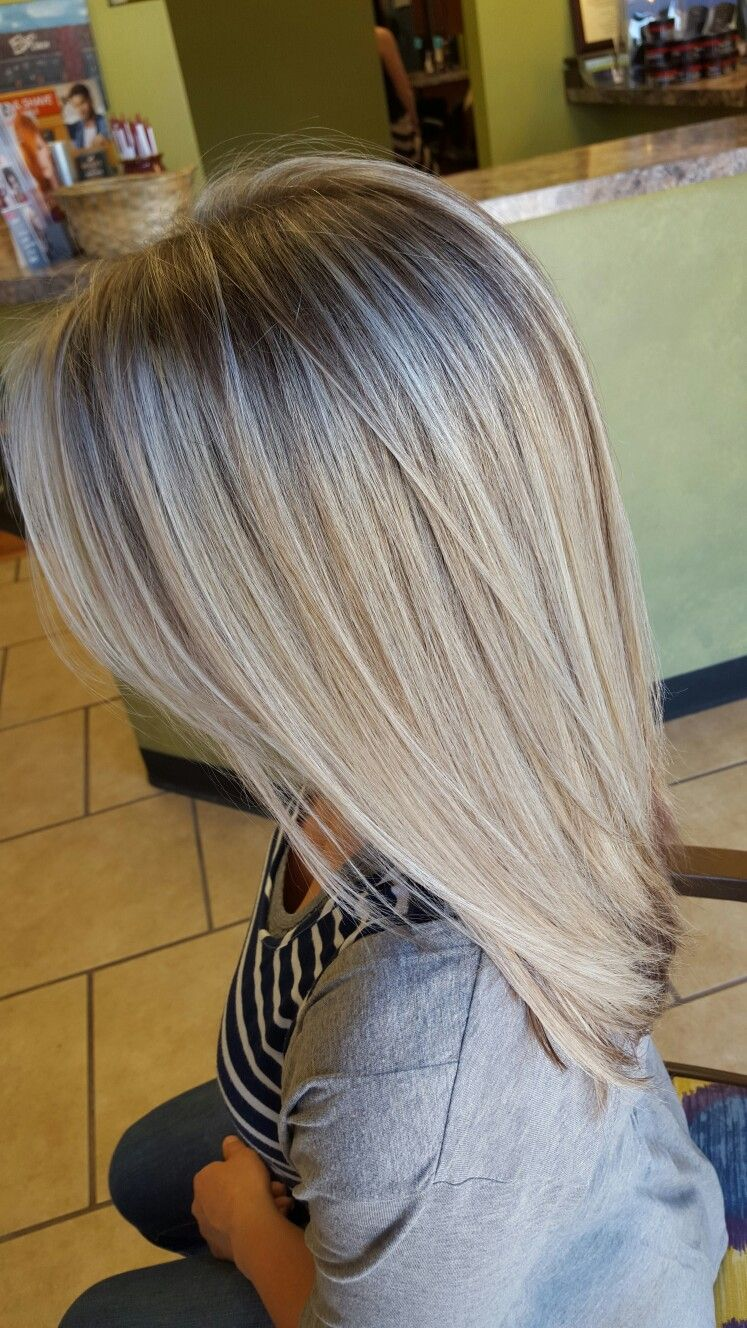 Dimensional Blonde Hair Chocolate Low Lights Icy Blonde