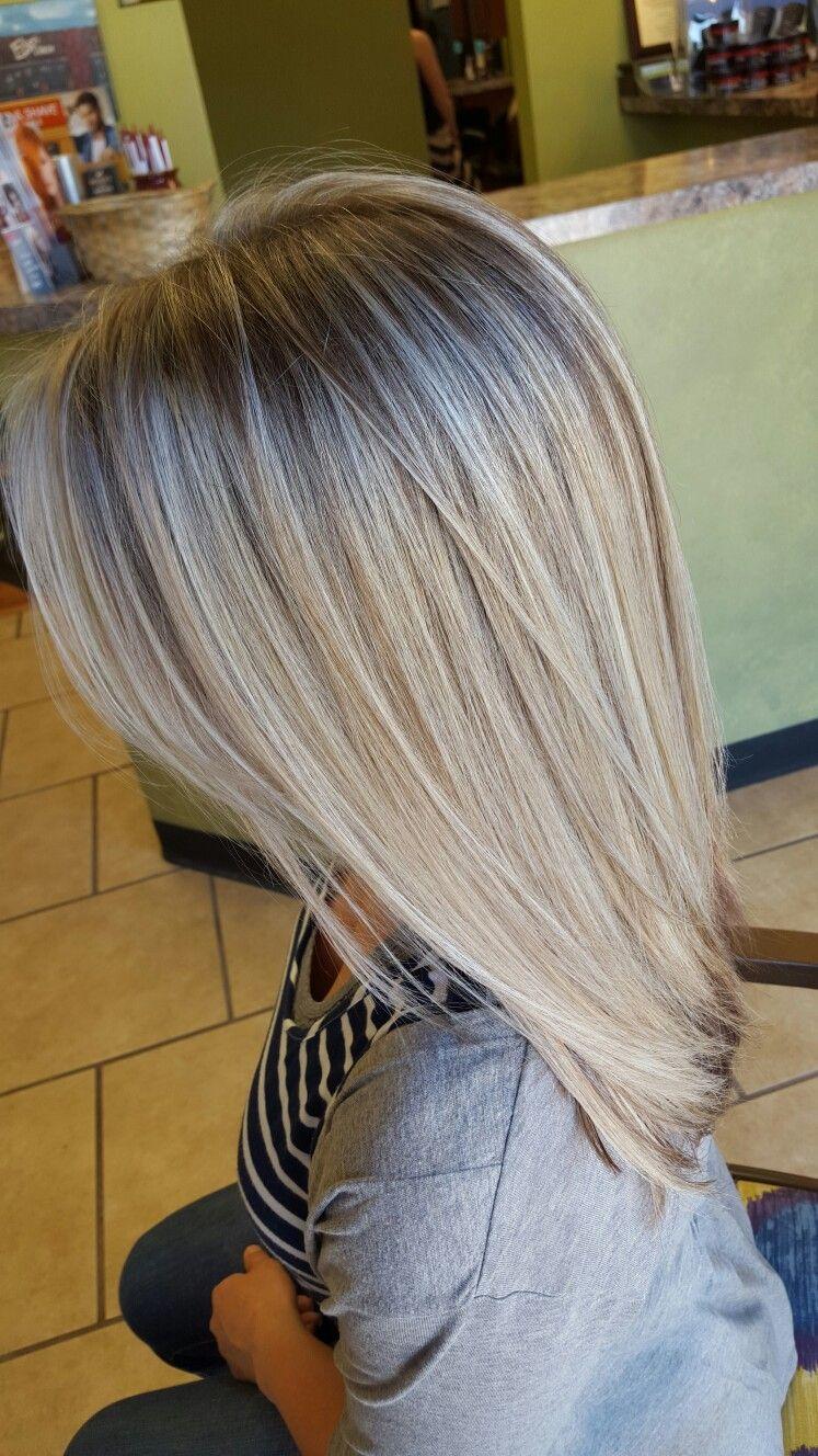 Dimensional Blonde Hair Chocolate Low Lights Icy Blonde