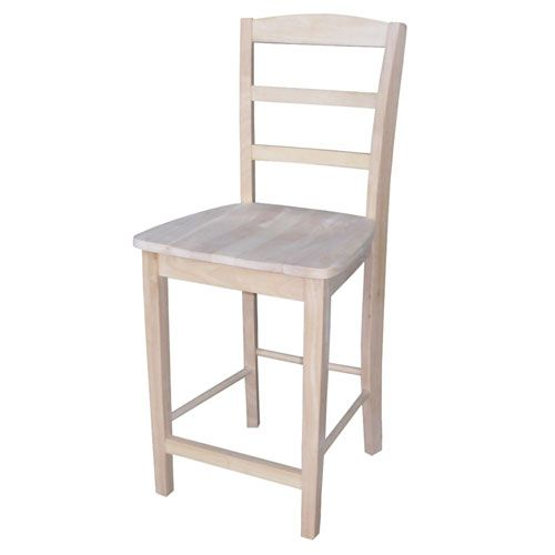 24 Inch Madrid Counter Stool Counter Height Stools Wood Bar