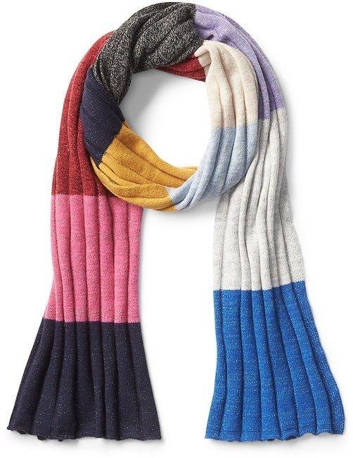 Gap Metallic crazy stripe colorblock scarf