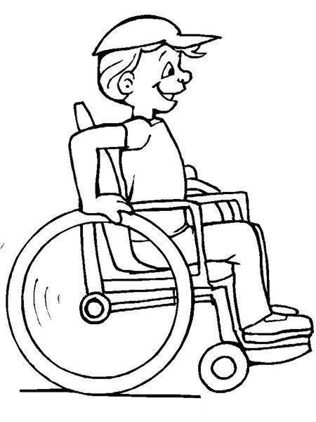 Simple Wheelchair Sketch Etkinlik Coloring Pictures For Kids