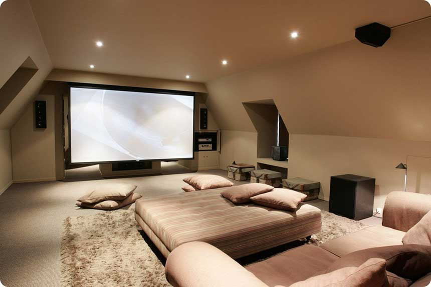 Am nager des combles en salle home cin ma salon for Canape home cinema