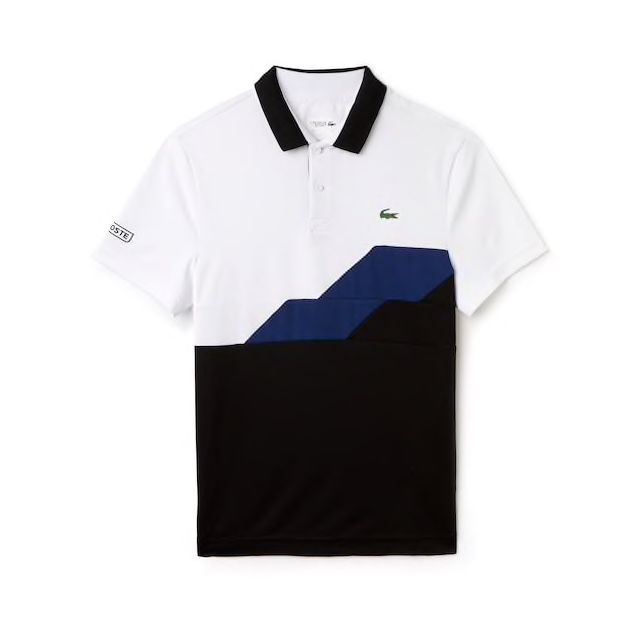 fa01eeaad064ac MEN S SPORT COLORBLOCK BANDS TECHNICAL PIQUÉ TENNIS POLO – Number One  Fashion