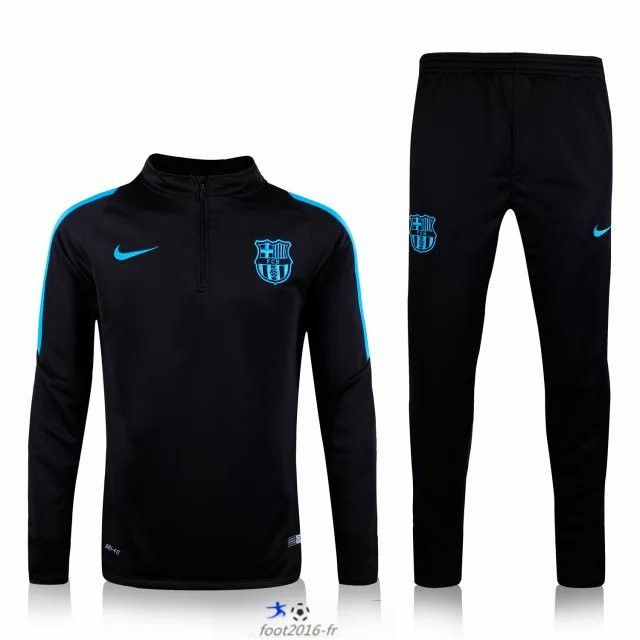 equipement de foot nouveau survetement de foot barcelone noir 2015 2016 pas chere tracksuit. Black Bedroom Furniture Sets. Home Design Ideas