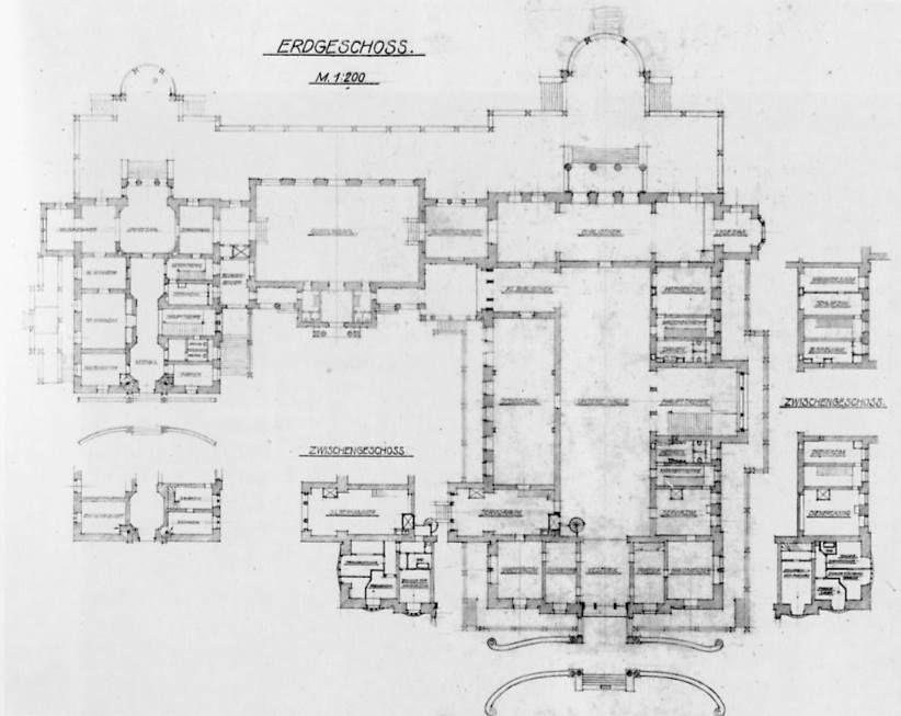 Villa Hugel Ground floor plan (grundriss