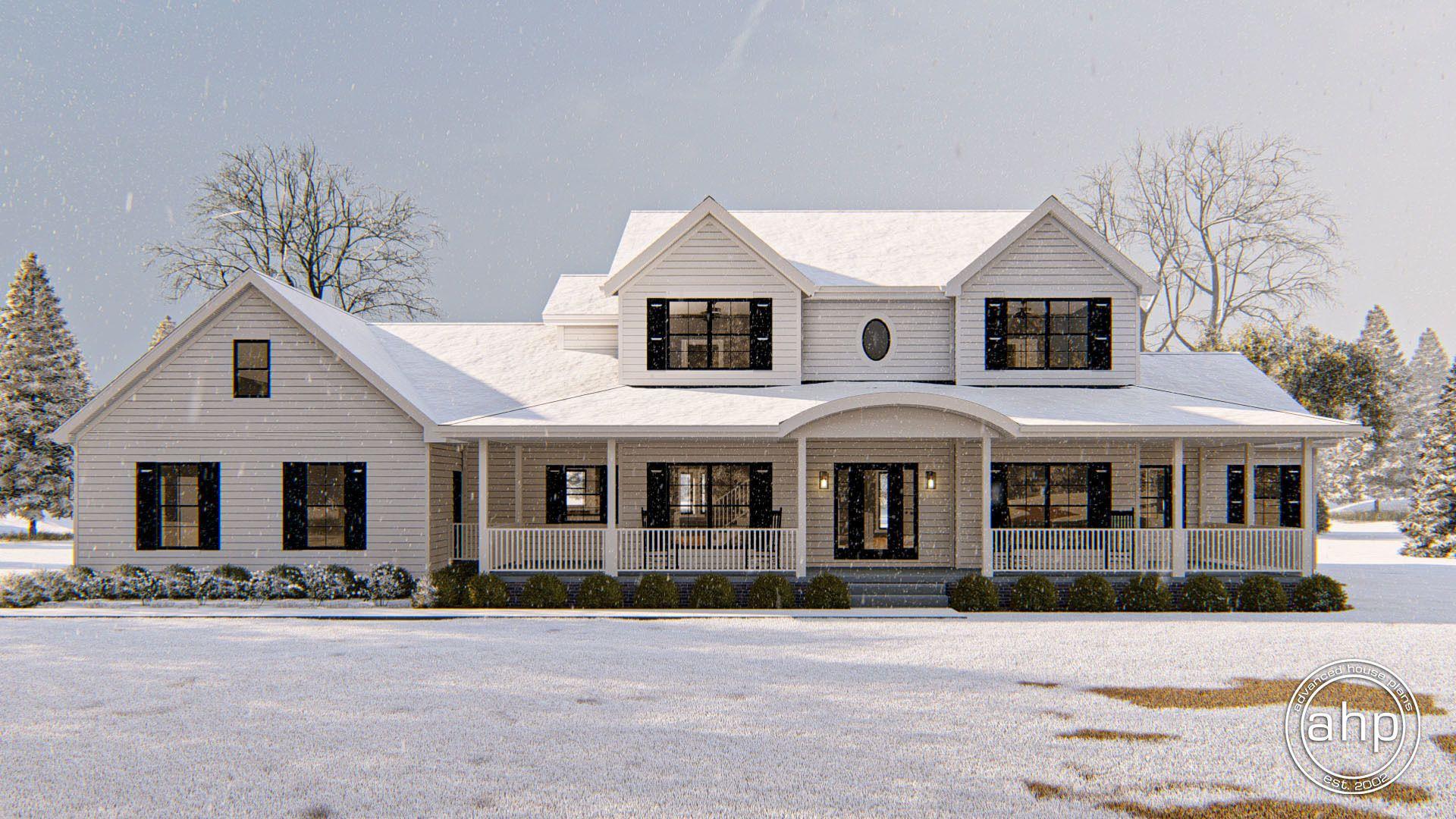 Strattfield 1.5 Story Modern Farmhouse House Plan