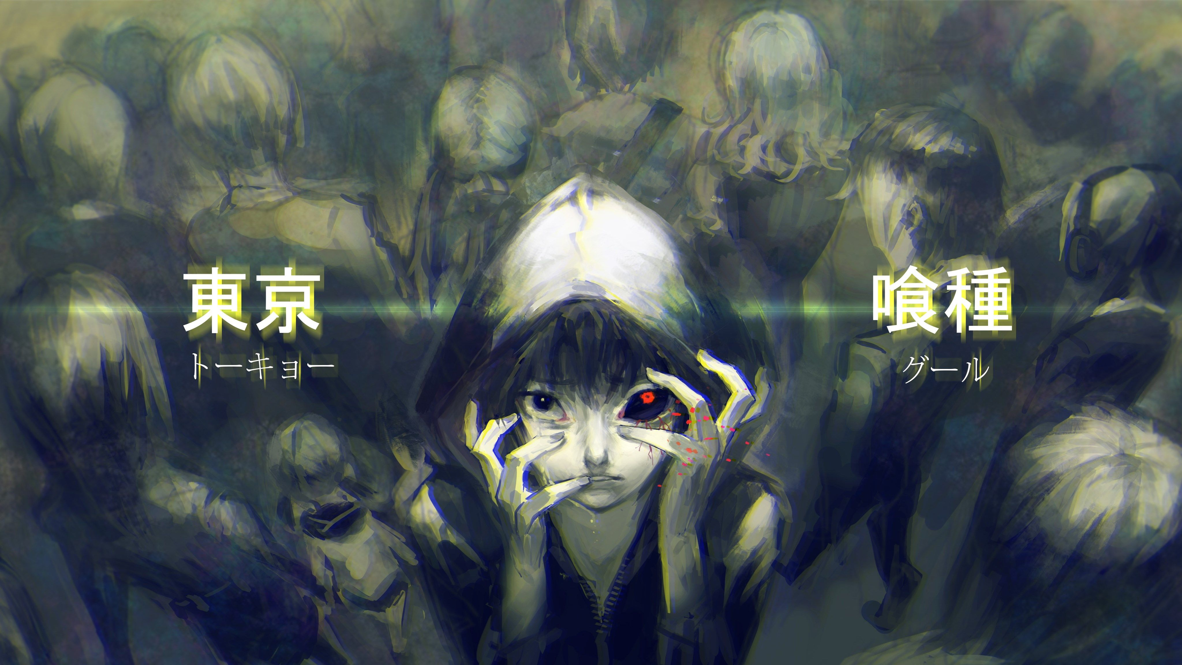 tokyo ghoul 4k wallpaper (4096x2304) Аниме, Комиксы и Гифу