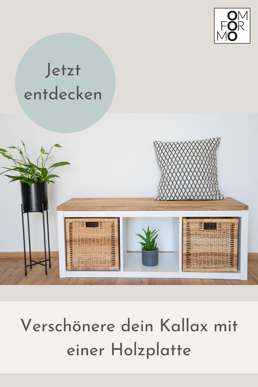 Verschönere dein Kallax mit einer Holzplatte