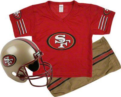 9f101aa2 San Francisco 49ers Kids/Youth Football Helmet Uniform Set | Kooper ...