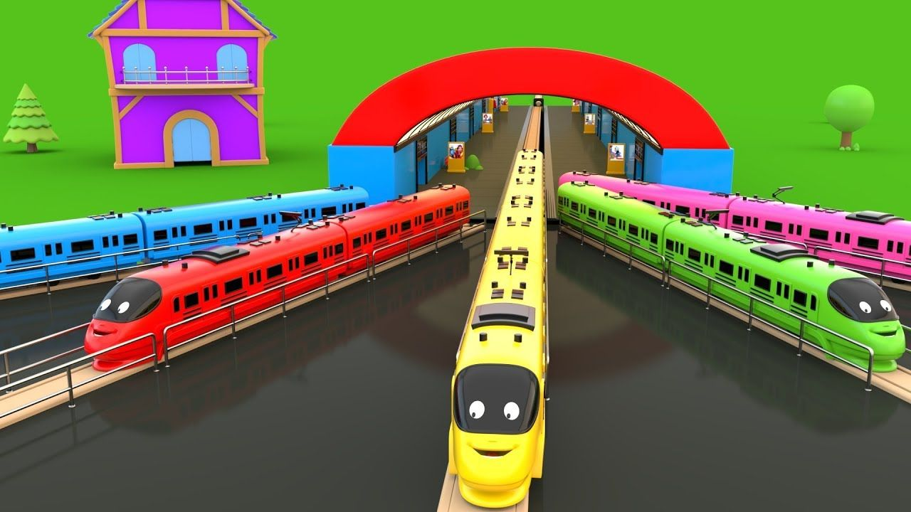 Coloring And Parking Toys Trains Toy Train Kids Videos Train