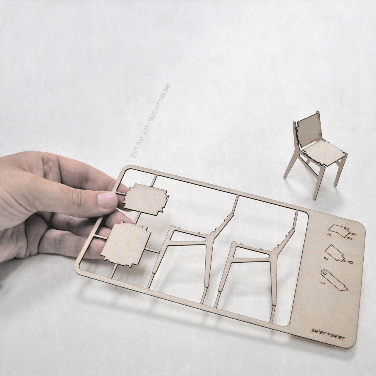 Plywood Chair Christmas Card Seier + Seier 2009 laser cut plywood ...