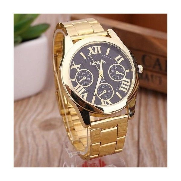 Dress unisex steel classy fashion watch MyFriendShop ($12) ❤ liked on Polyvore featuring jewelry, watches, unisex jewelry, steel jewelry, unisex watches and steel watches