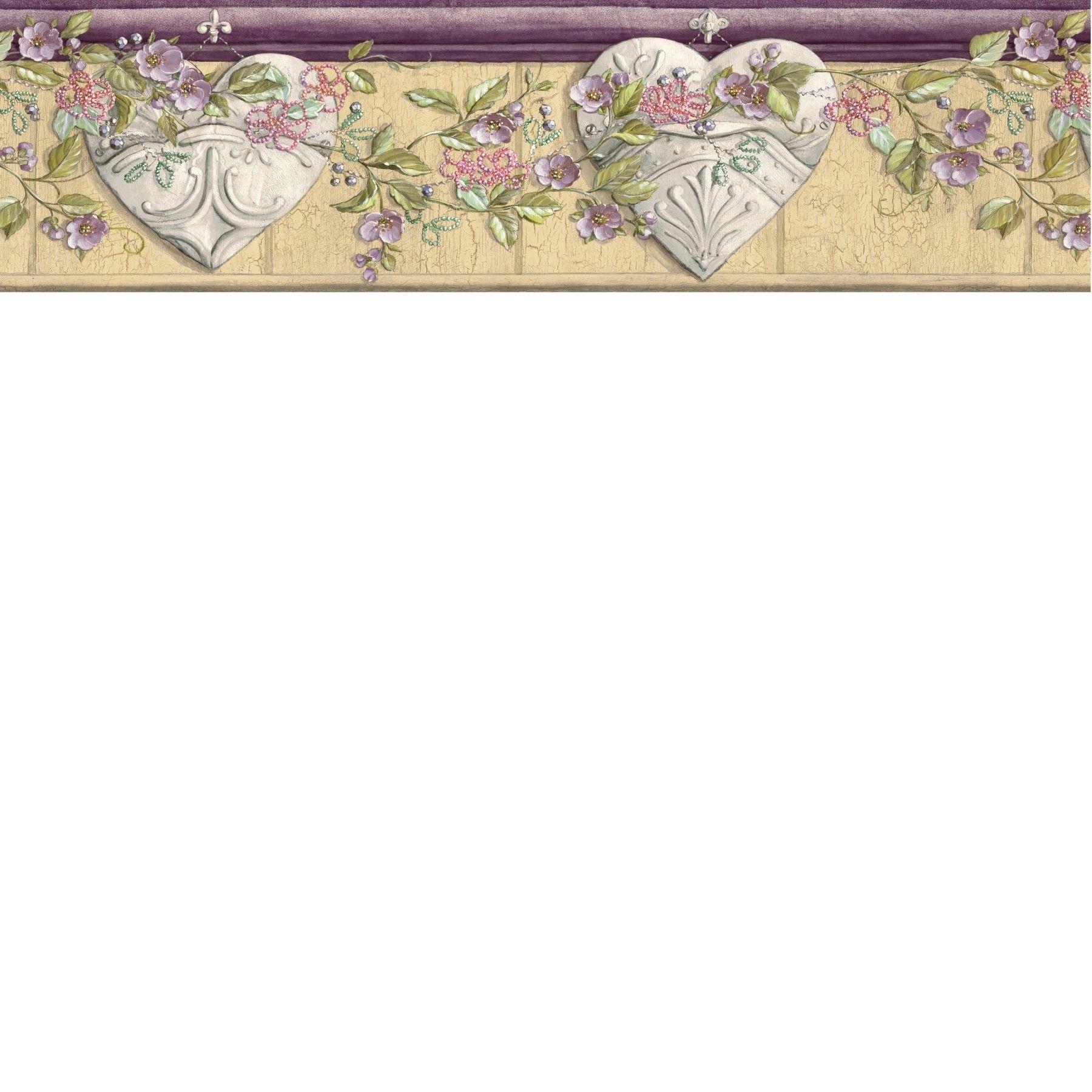 Border Name Ceiling Tin Hearts Pattern AAI08133B Border