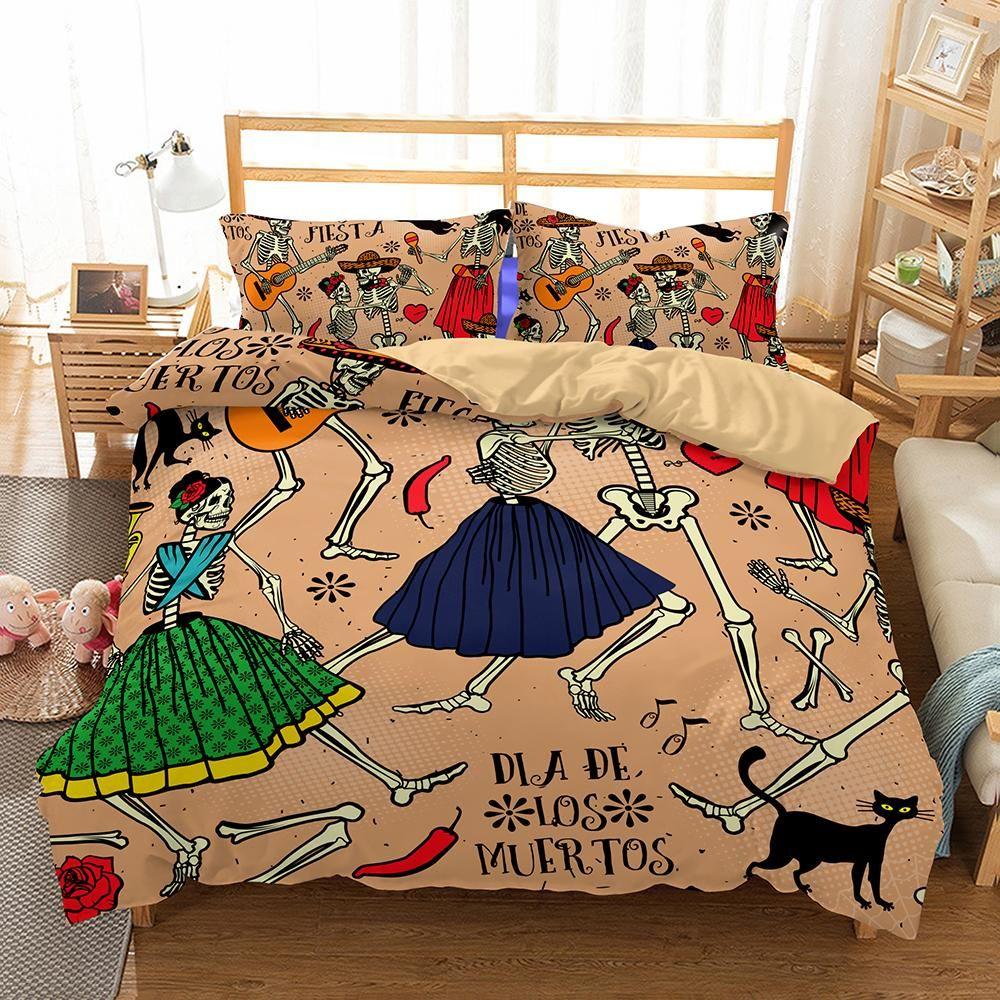 3d Art Pattern Skull Printed Bedding Sets Duvet Cover Duvet